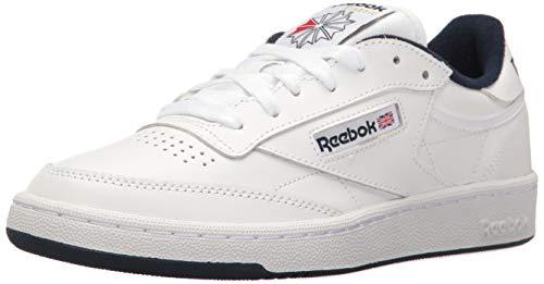 Reebok Men's Club C 85 Walking Shoe, White/Navy, 9.5 M US
