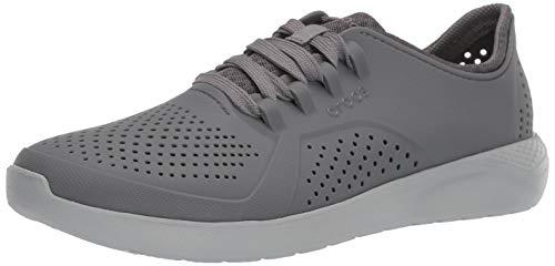 Crocs Men's LiteRide Pacer Sneaker, Charcoal/Light Grey, 9 M US