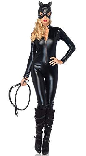 EVRYLON Kostüm Catwoman Karneval sexy Katze Schwarze Katze sexy Schwarze Farbe größe XL Cosplay