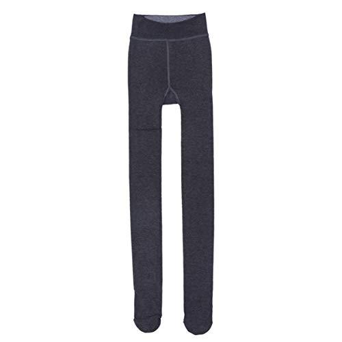 FENICAL Invierno Mujer Terciopelo Elástico Leggings Pantalones Medias Gruesas Pantimedias (Gris)