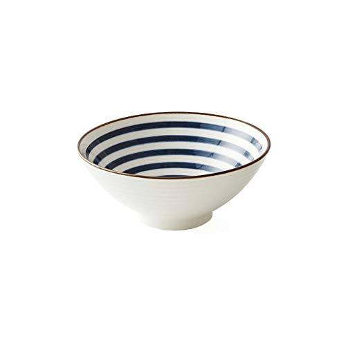 Aojing Reisschüsseln dekorative Keramik Salatschüssel Guacamole Servierschale Ramen Müslischalen, for EIS/Snack/Dip/Suppe/Nudel-Schüssel (Color : 2)
