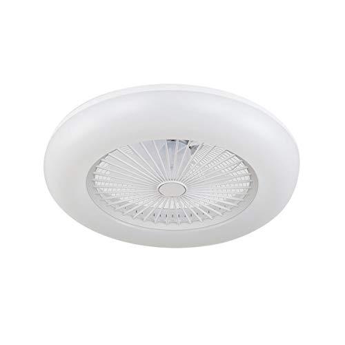 ACTiO LED 770011-ABL lámpara ventilador de techo luz led 60W IKARO blanco mando distancia, regulable intensidad, 3 tonalidades, memoria, silencioso, 7 aspas protegidas, 3 velocidades, D.50cms.