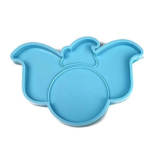 Dessin animé à la main éléphant volant Coaster résine moule éléphant caboteur tapis de thé Agate géode résine époxy moule artisanat outils tapis de thé résine moules