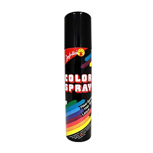 NET TOYS Laque Noire - Spray de Couleur pour Cheveux - Coloration des Cheveux - Spray Colorant - Spray de Couleur - Spray pour Cheveux - Sprays de Couleurs - Coloration des Cheveux