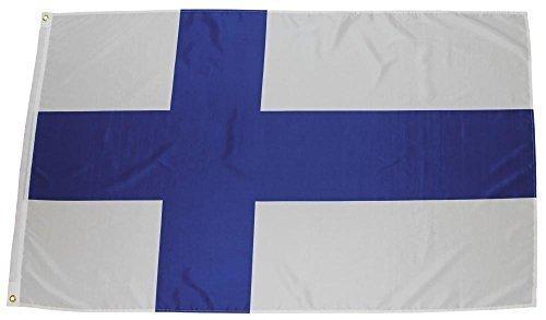 MFH Fahne 90x150 cm Länderflagge WM EM Hissflagge Nationalfahne Deutschlandfahne (Finnland)