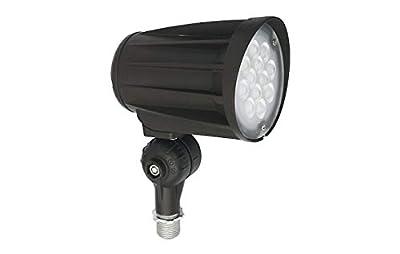 ASD 28W LED Bullet Flood Light 3200lm 5000K Daylight - Replaces 150W MH - IP65 100-277V LED Outdoor Commercial Landscape Light - Exterior LED Flood Light - LED Tree Spotlight, UL & DLC Listed, Black