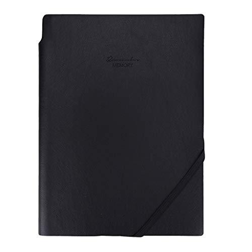 Cuadernos de taquigrafía Negocio de Gama Alta Retro Notebook Office Extracto de Negocio Escritura Bloc de Notas Cuaderno de Tapa Dura (Color : Black)