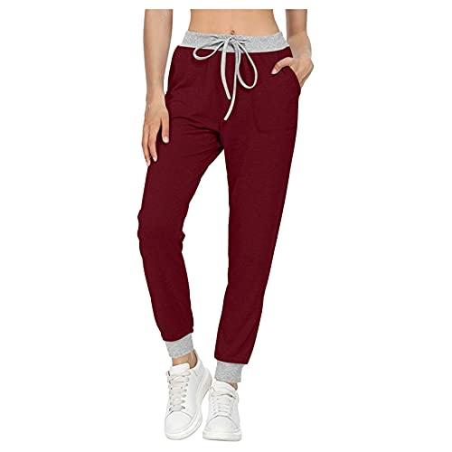 WAEKQIANG Pantalones De Yoga CóModos Y De Ocio para Mujer, Bolsillos con CordóN, Pantalones para Correr, Pantalones Suaves, Pantalones Deportivos