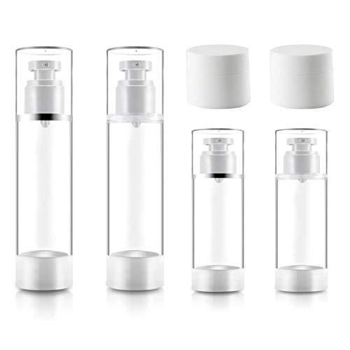 トラベルボトル 小分けボトル スプレーボトル 漏れ防止 30/50ML容量 運輸保安認可 出張 旅行用 シャンプー/クリーム/化粧品 ジム 旅行ボトル セット (ホワイトセット)