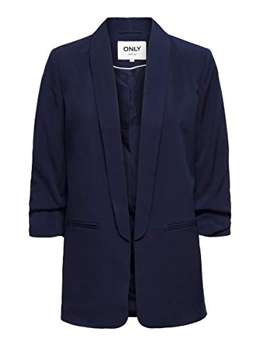 Only ONLELLY 3/4 Life Blazer TLR Noos, Blu-Evening Blue, 42 Donna