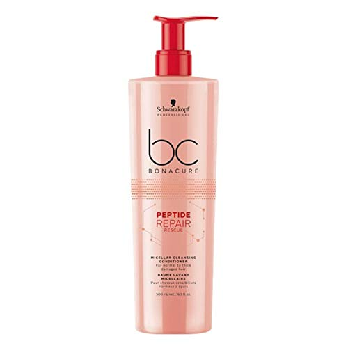 Schwarzkopf Professional BONACURE Peptide Repair Rescue Micellar Cleansing Conditioner, 500 ml