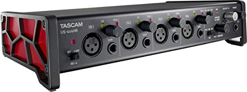 Tascam US-4x4HR 4 Mic 4IN/4OUT High Resolution Versatile USB Audio Interface (US4X4HR)