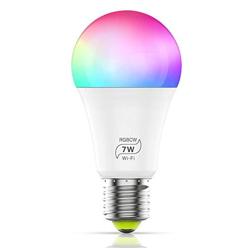 Ampoule WiFi LED Intelligente, GEYUEYA Home 7W E27 Ampoules...
