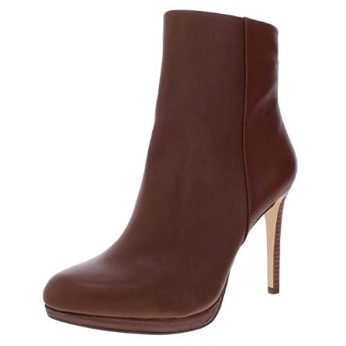 NINE WEST Women's QUANETTE Leather Ankle Boot, Brown, 8