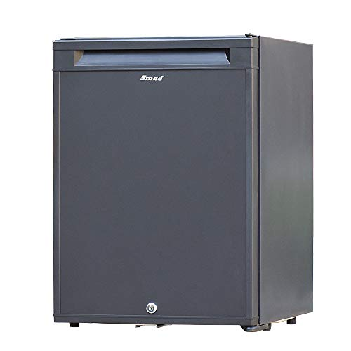 dorm refrigerator with locks Smad No Noise Fridge 12 V Portable Mini Refrigerator with Lock 2-Way Fridge for Student Dorm, Living Room, Hotel, Office, 12 volt / 110 volts