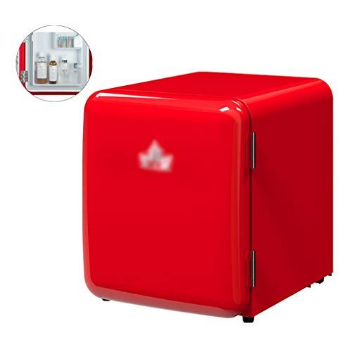 Frigoríficos mini Refrigerador equeño Retro Refrigerador Pequeño Refrigerado Refrigerador De Enfriamiento Directo Controlado por Temperatura Integración Gabinete Y Panel De Puerta Integrados
