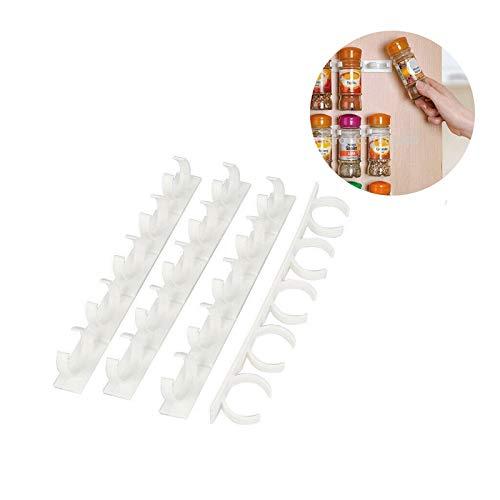 MLJ Estante para Especias El Clip para Especias De Plástico Súper Pegajoso Montado En La Pared Se Puede Unir A Voluntad Y Se Puede Usar En Casi Cualquier Objeto (Color : 1pcs)