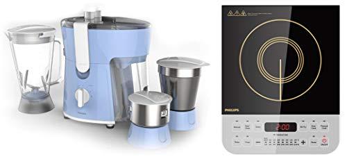 Philips Amaze HL7576/00 600-Watt Juicer Mixer Grinder + Philips Viva Collection HD4928/01...