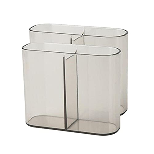 2-lagiger transparenter Kunststoff-Werkzeugkoffer mit Griff, Mehrzweck-Werkzeugschrank, Organizer,...