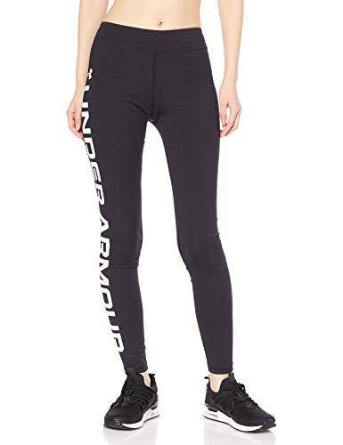 Under Armour Girls' SportStyle Branded Leggings , Black (001)/White , Youth...