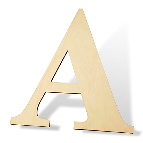 5ARTH 12 inch Wooden Letters A - Blank Wood Board, Wood Letters for Walls Decor, Party, DIY Craft Projects