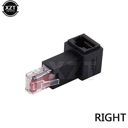 ShineBear Newese - Extensión de red Ethernet Ethernet (90 grados, 8P8C, FTP, STP, UTP, Cat 5e, RJ45, LAN Ethernet, macho a hembra, longitud del cable derecha)