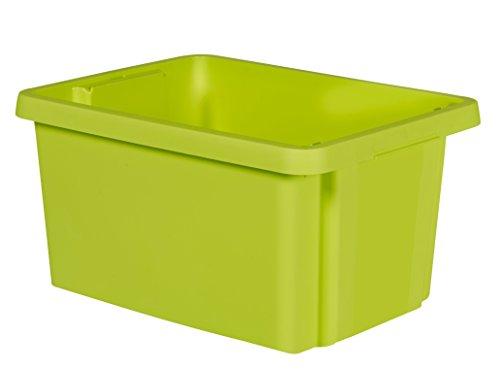 CURVER Drehstapelbox Essentials 16L in grün, Plastik, 39x29.5x20.3 cm