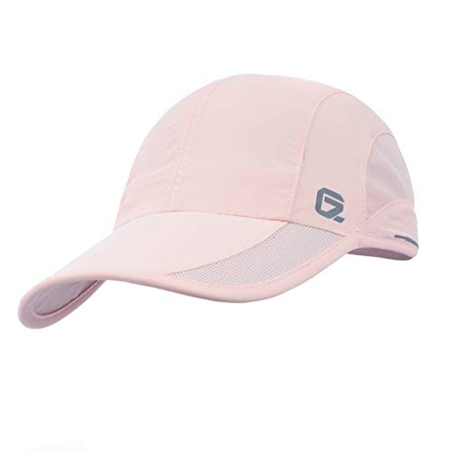GADIEMKENSD Quick Dry Sports Hat Lightweight Breathable Soft Outdoor Running Cap Runners Caps for Women (Pink)