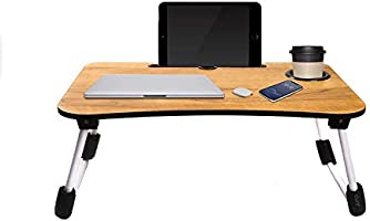 Generic LTT-0013 Multipurpose Laptop Table with Dock Stand & Non-Slip Legs Foldable and Portable Lapdesk for Study & Bed...