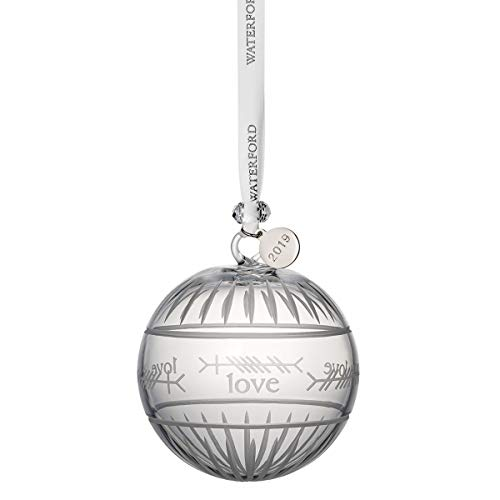 "Waterford Crystal Ogham ""Love"" Ball Ornament 3.7'"