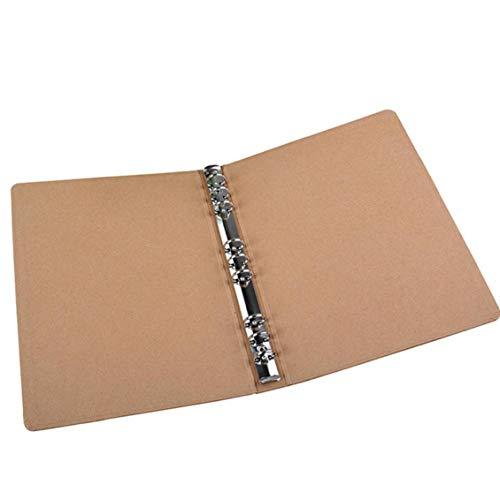 Sasitobe B5 Binder Vertikal Ordner Platz Skizzen Plain Kraft Ordner Multifunktions-DIY-Abdeckung Abnehmbare Metallringbuch Mit 9 Löchern