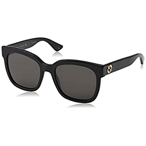 Fashion Shopping Gucci GG0034S 001 Black 0034S Square Sunglasses Lens Category 3 Size 54mm