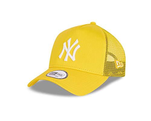 New Era York Yankees Cap Trucker Kappe Tonal Mesh Basecap MLB Baseball Gelb - One-Size