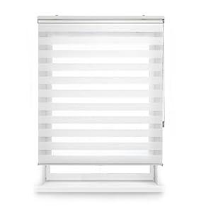 Blindecor Lira Estor Enrollable de Doble Capa, Noche y Día, Poliéster, Blanco (Roto), 160 x 180 cm (ancho x largo)