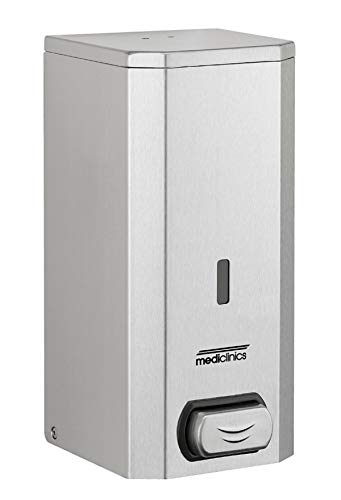 HEXOTOL SNM521, Dispenser di Sapone Liquido, in Acciaio Inox, Acciaio Inox, Acciaio Inox, 11.6x11.7x20.6 cm