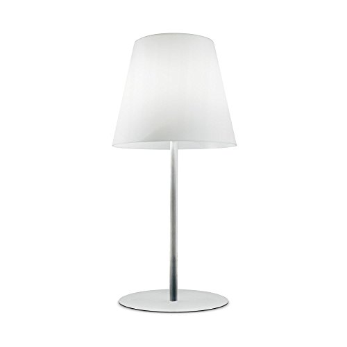 Fontana Arte Amax Outdoor staande lamp, wit frame chroom glanzend H: 240 x Ø109cm