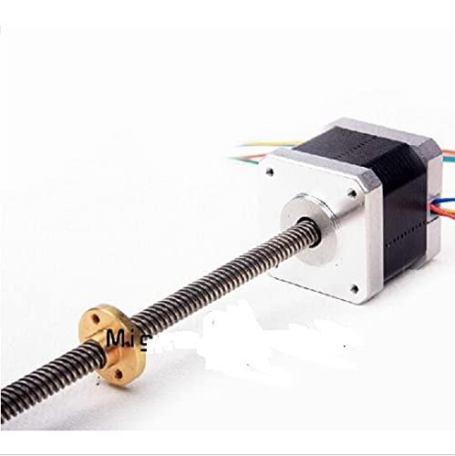 Per stampante Ultimaker 2 Go 3 D Motore Z da 180 mm con motore a vite trapezoidale con Trapezoidal_Lead_Srew TR 8 * 8 (P2)