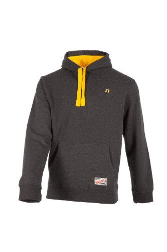 Russell Athletic Pullover Classic Hooded Sweat - Punto Deportivo, Color Gris Claro, Talla S