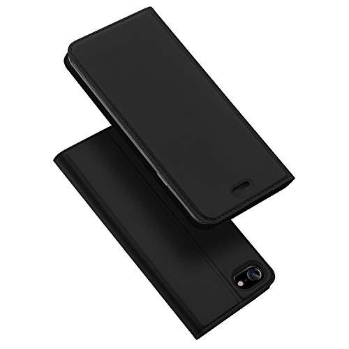 DUX DUCIS iPhone 7 Hülle, iPhone 8 Hülle, iPhone SE 2020 Hülle, Leder Flip Handyhülle Schutzhülle Tasche Hülle für Apple iPhone 7/8 / SE 2020 (Schwarz)