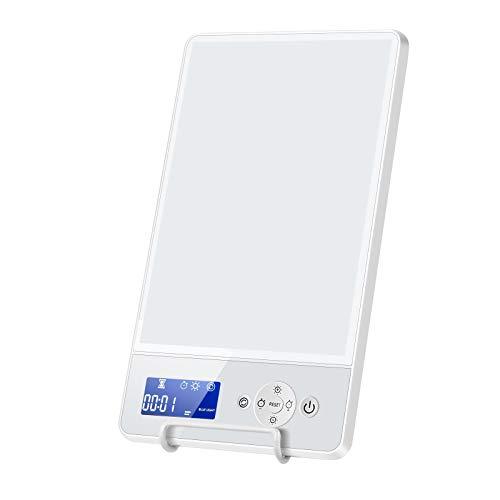 SAD-Lampe, Lichttherapie-Lampe, 1000 Lux, Therapiebox mit Timer-Funktion, 2 Helligkeitsmodi, SAD Lichttherapie-Lampe, ohne UV-Strahlung für SAD (weiß)