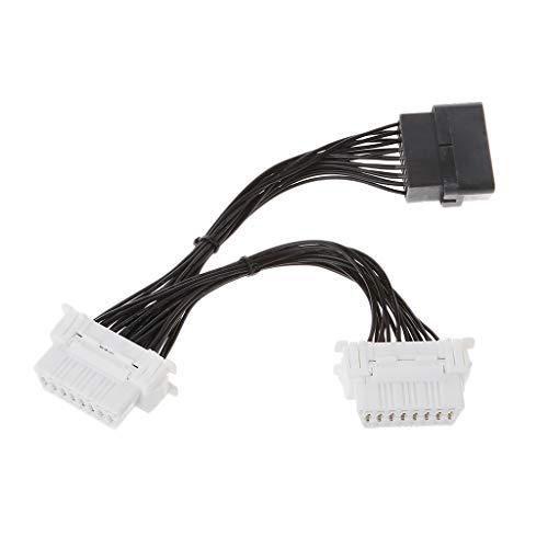 Qiman 16 Pin OBD2 OBD 2 OBDii Splitter Verlängerungskabel Ein Stecker Auf Zwei Weibliche Y-Kabel Für ELM327