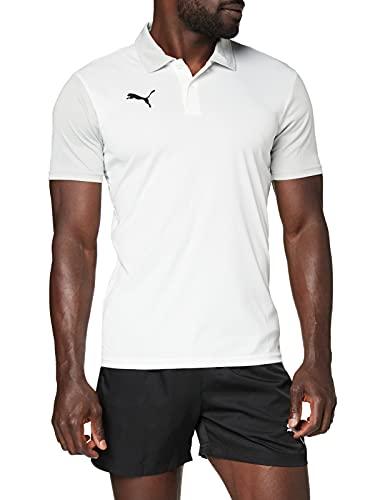PUMA Herren, teamGOAL 23 Sideline Polo Poloshirt, White-Gray Violet, M