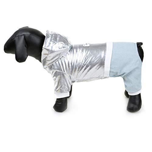 XMCWZJ Hond Kleding Winter Huisdier Kleding Metalen Wind Katoen Jas Dikke Hond Kleine En Middelgrote Teddy Kleding