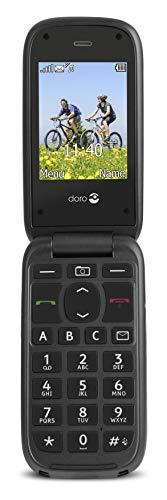 Doro PhoneEasy 613 Mobiltelefon im eleganten Klappdesign (2 Megapixel Kamera, große Tasten & Bildschirm, Notruftaste) schwarz