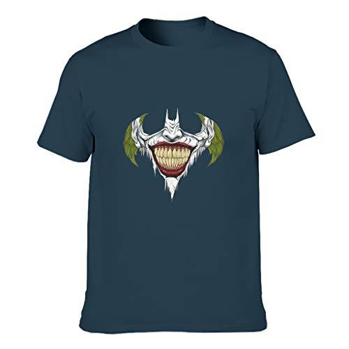 Joker Zahnfledermaus Athletisch Grafik Kurzärmliges T-Shirt mit Arbeitskleidung für Vater Mutter Sohn Tochter Gesicht Navy s