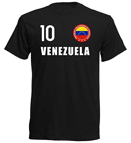 nationshirt Camiseta infantil de Venezuela con emblema del FH 10 SC Negro 152 cm