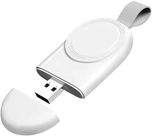 Drahtloses Ladegerät für Apple Watch, mit Allen Apple Watch Series 6/5/4/3/2/1/SE, mit leichtem, tragbarem, kabellosem, magnetischem Schnellladegerät.(Weiß)