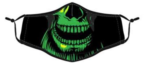 Gesichtsmasken 2er Pack Baumwolle Masken Mundschutz waschbar wBerlin Bunt wiederverwendbar (Gorilla schwarz/grün)