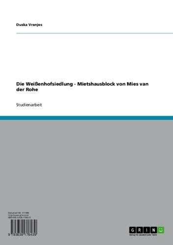 Die Weißenhofsiedlung - Mietshausblock von Mies van der Rohe (German Edition)