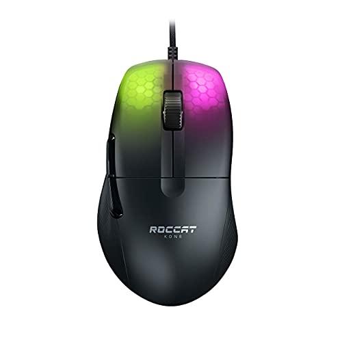 ROCCAT KONE Pro Lightweight Ergonomic Optical Performance Gaming Mouse with RGB Lighting, Black (ROC-11-400-01) (Renewed)